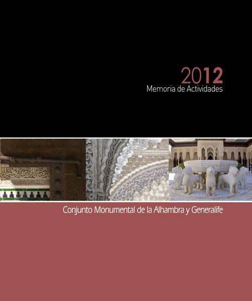 Memoria de actividades: 2012