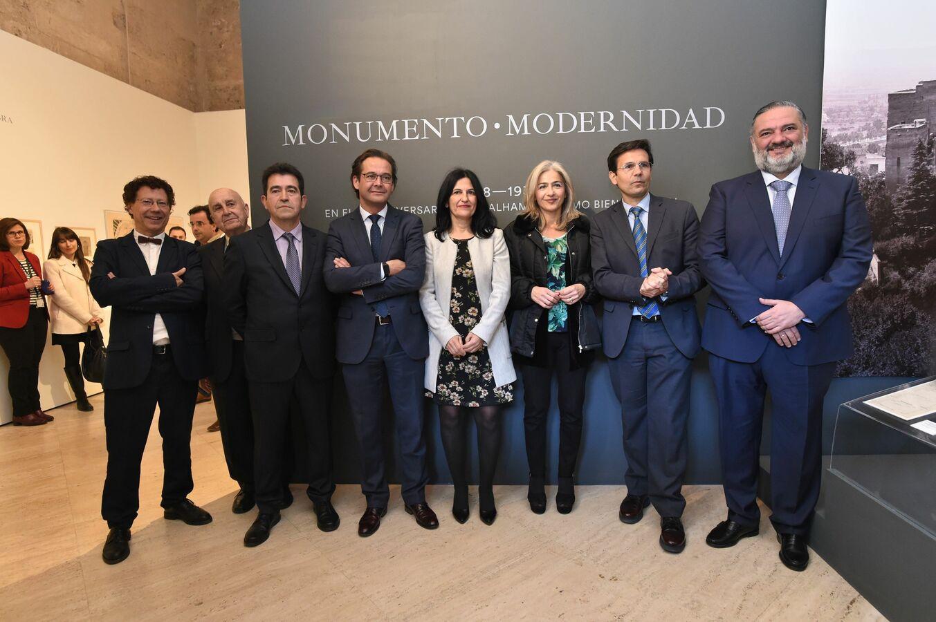 La consejera de Cultura y Patrimonio Histórico inaugura en la Alhambra la exposición  'Monumento y Modernidad' en el 150 aniversario de su declaración como bien cultural