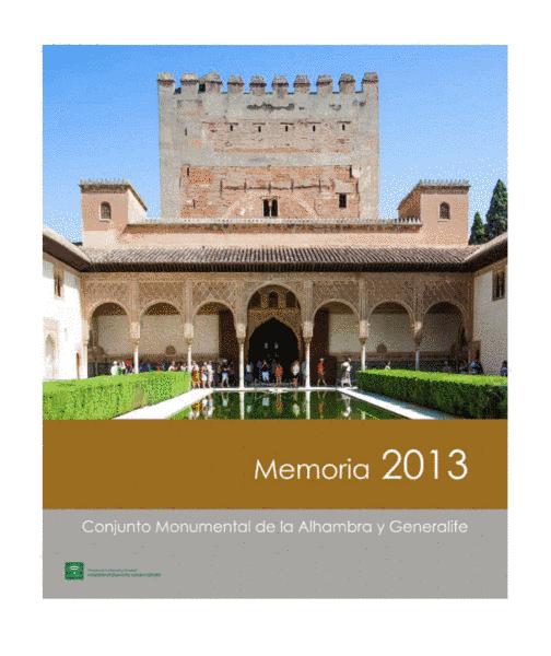 Memoria de actividades: 2013