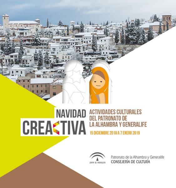 Portada Navidad Creativa, Actividades culturales del Patronato de la Alhambra y el Generalife