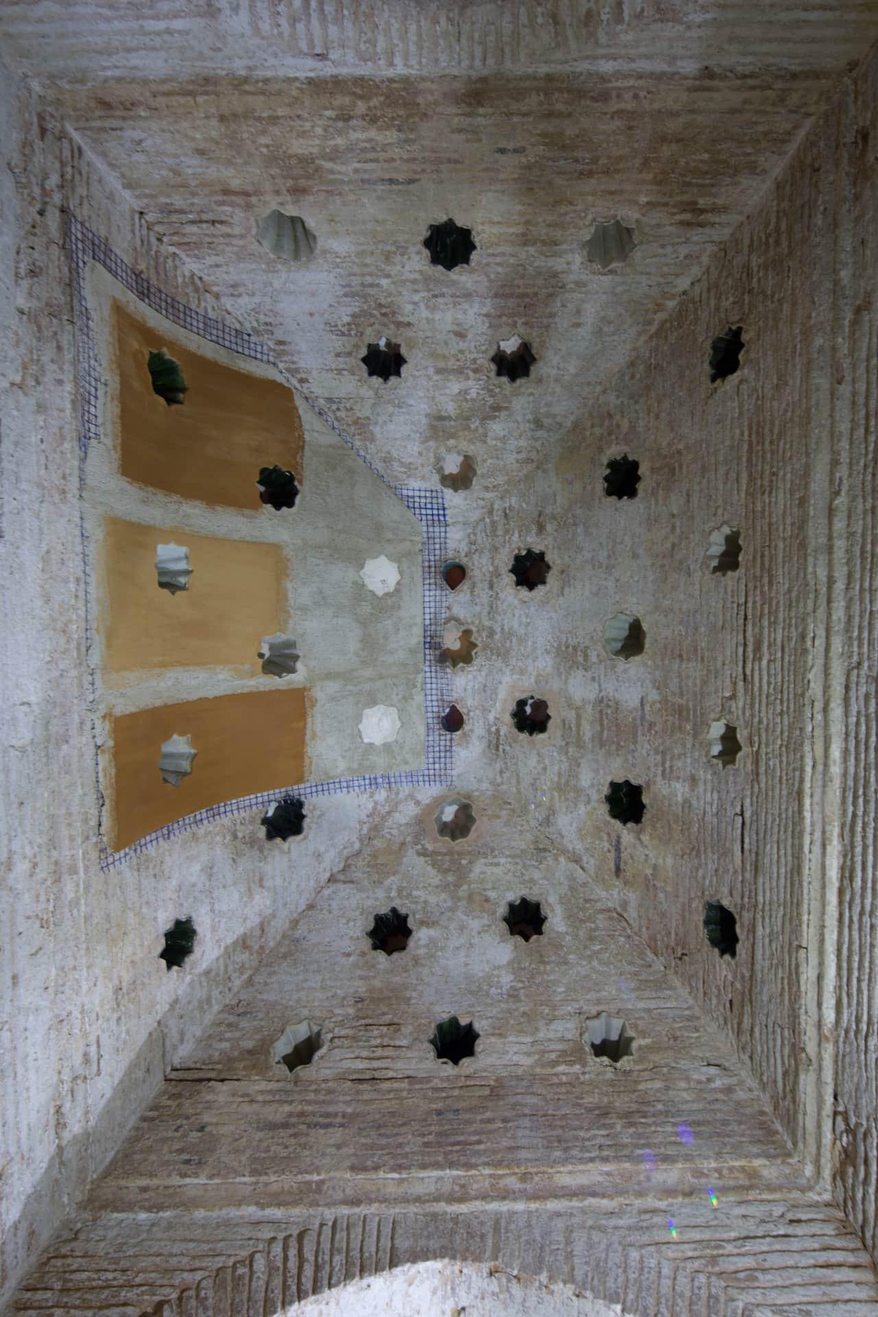 Obras en los baños de la Alhambra