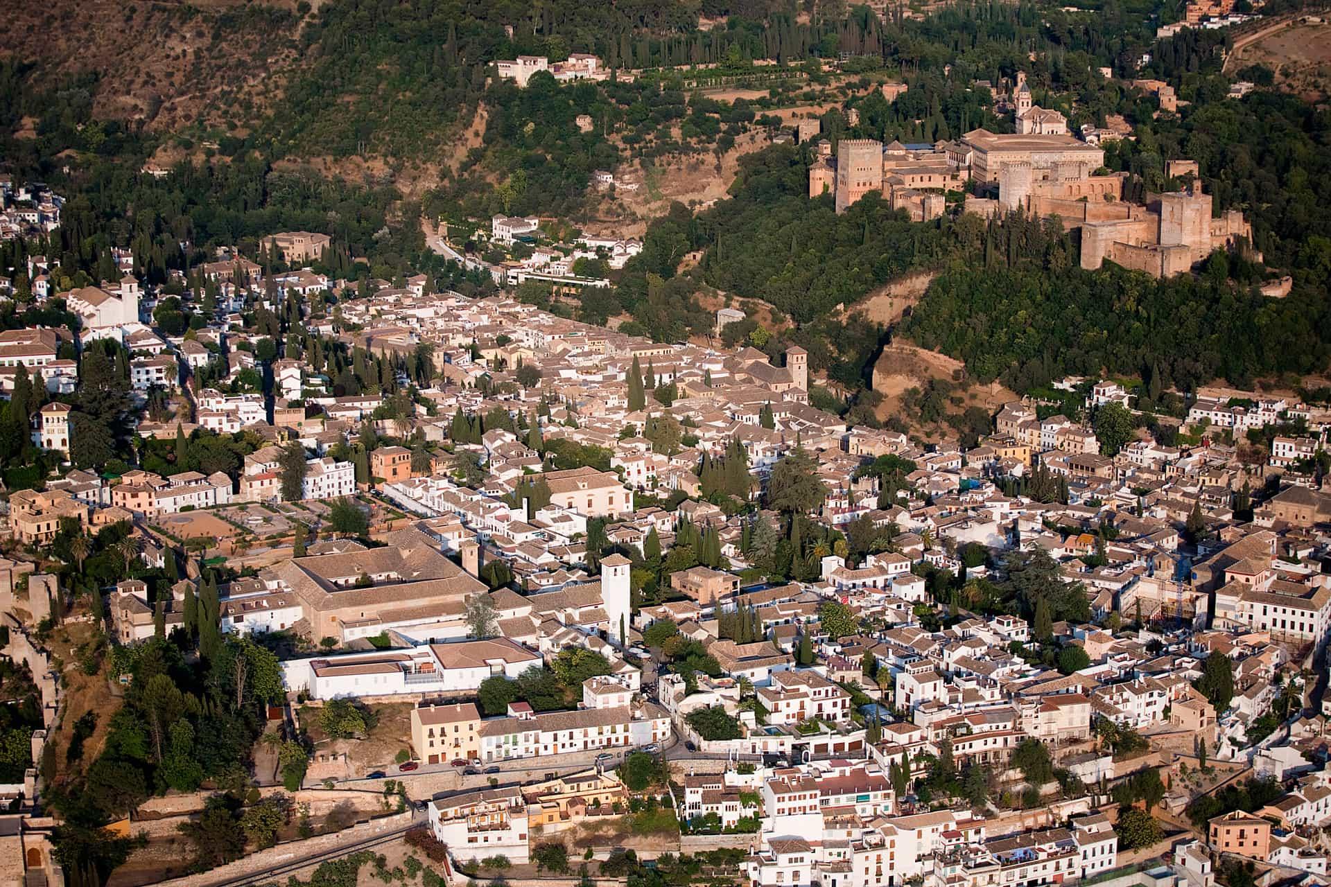 Vista del Albaicín y La Alhambra