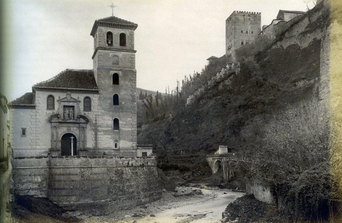 J. Valentine. Vista del Darro. Granada. 1888. Archivo Patronato de la Alhambra y Generalife.Coleccion de Fotografias.
