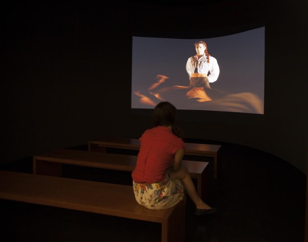 Proyección del documental Bailando la Farruca. Fotografía de María de la Cruz