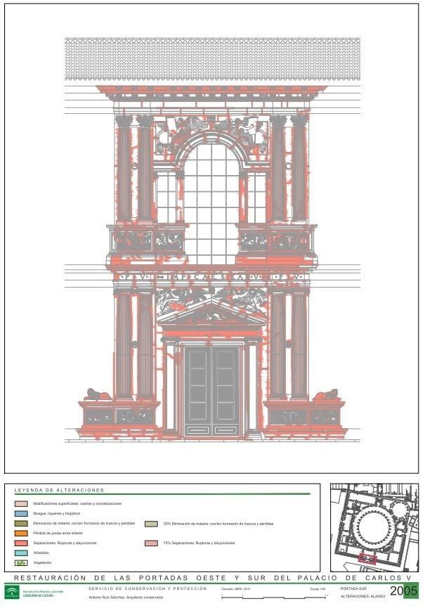 Proyecto de restauración portadas de Carlos V