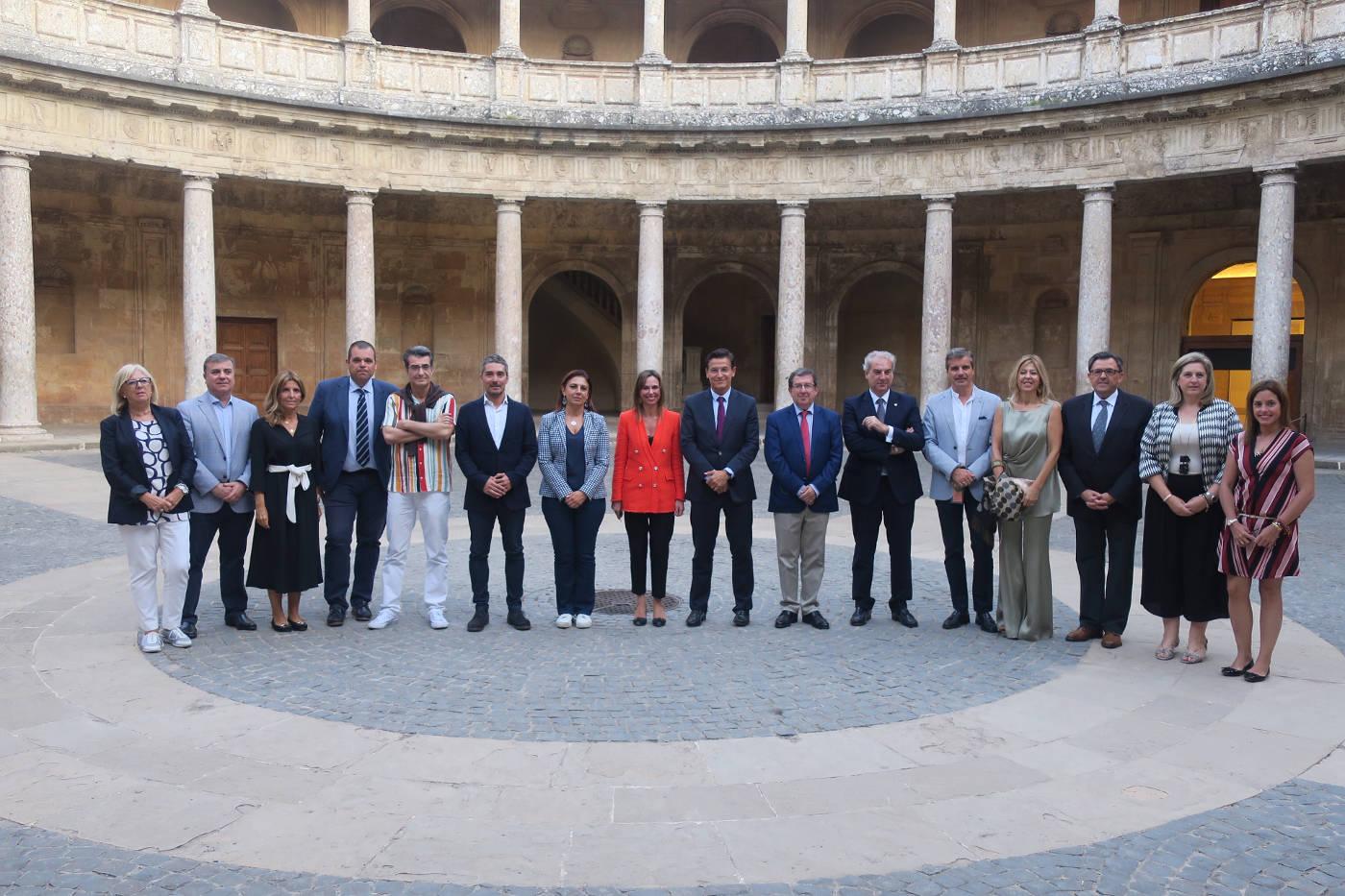 Visita institucional a la Alhambra