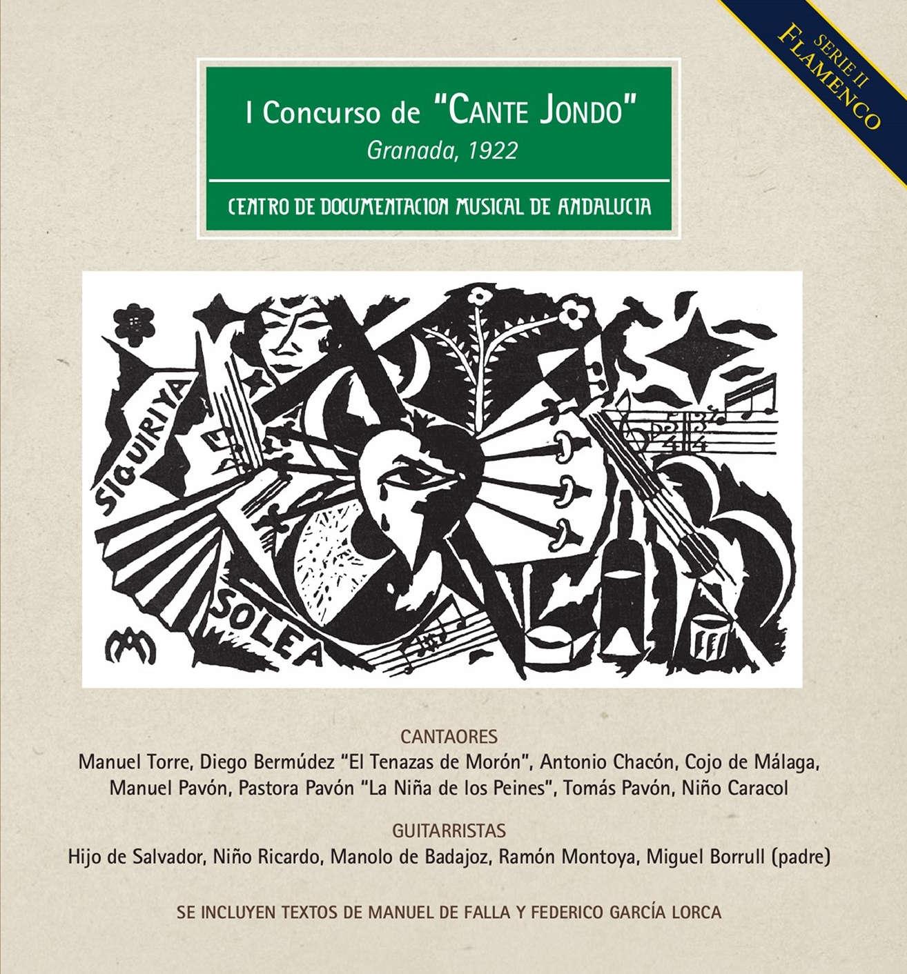 """I Concurso de """"Cante Jondo"""" Granada, 1922"""
