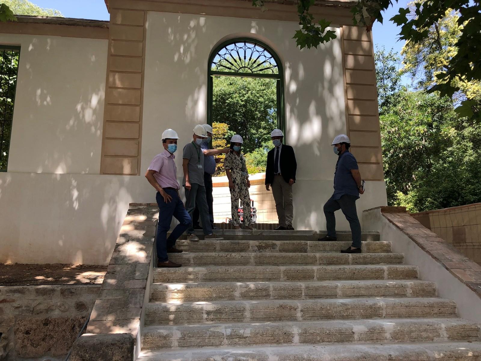 La Alhambra recepciona las obras de rehabilitación de la antigua fachada del Carmen de Peñapartida