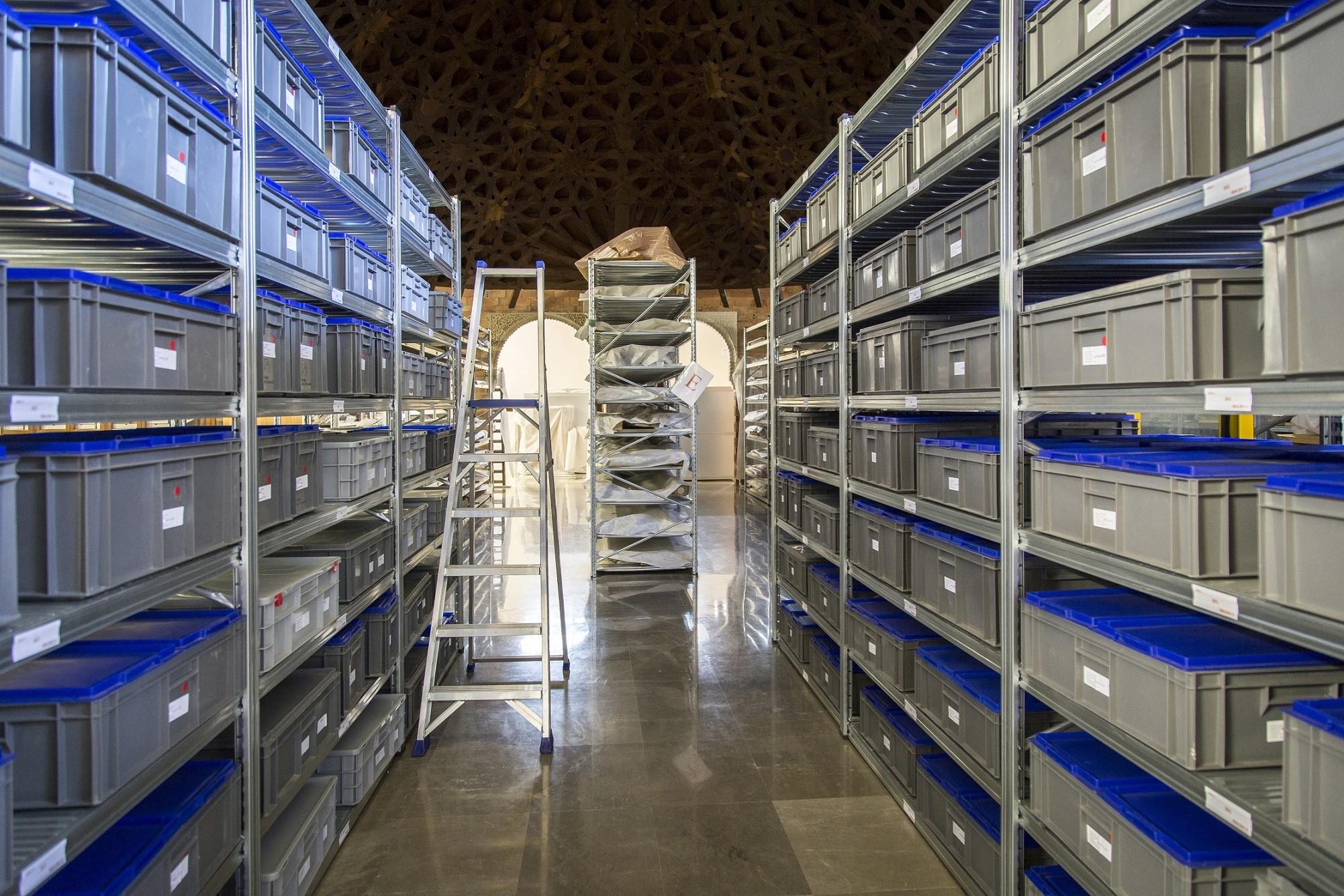 El tesoro oculto de la Alhambra. El almacén de Bienes Culturales