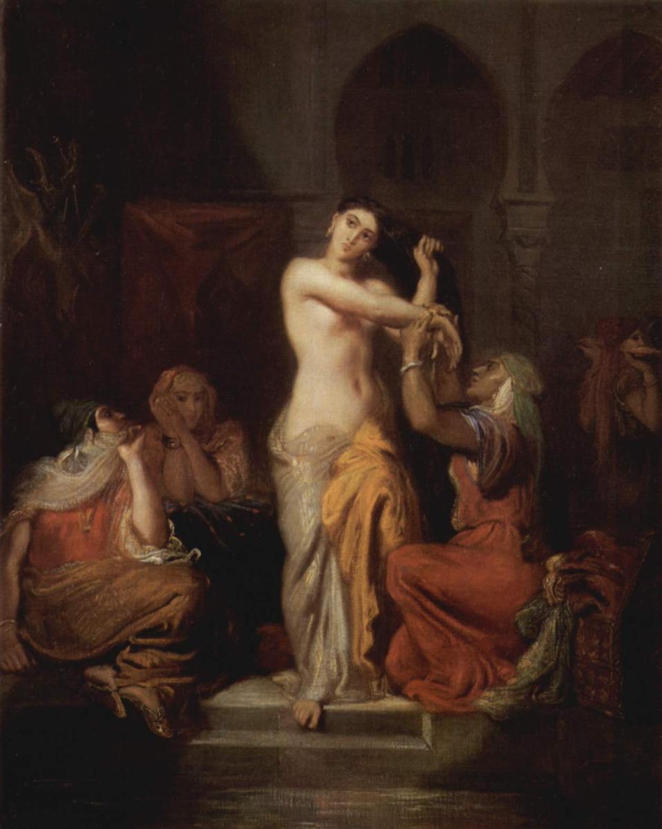 Escena del harén. Dama mora en el baño (1854). Teodoro Chassériau.