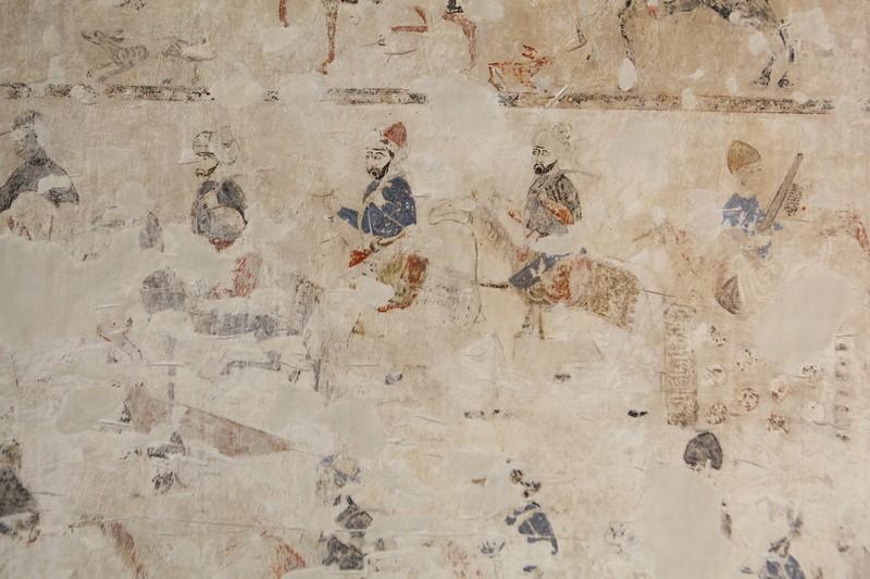 Pinturas figurativas murales en la Casa de las Pinturas del Partal