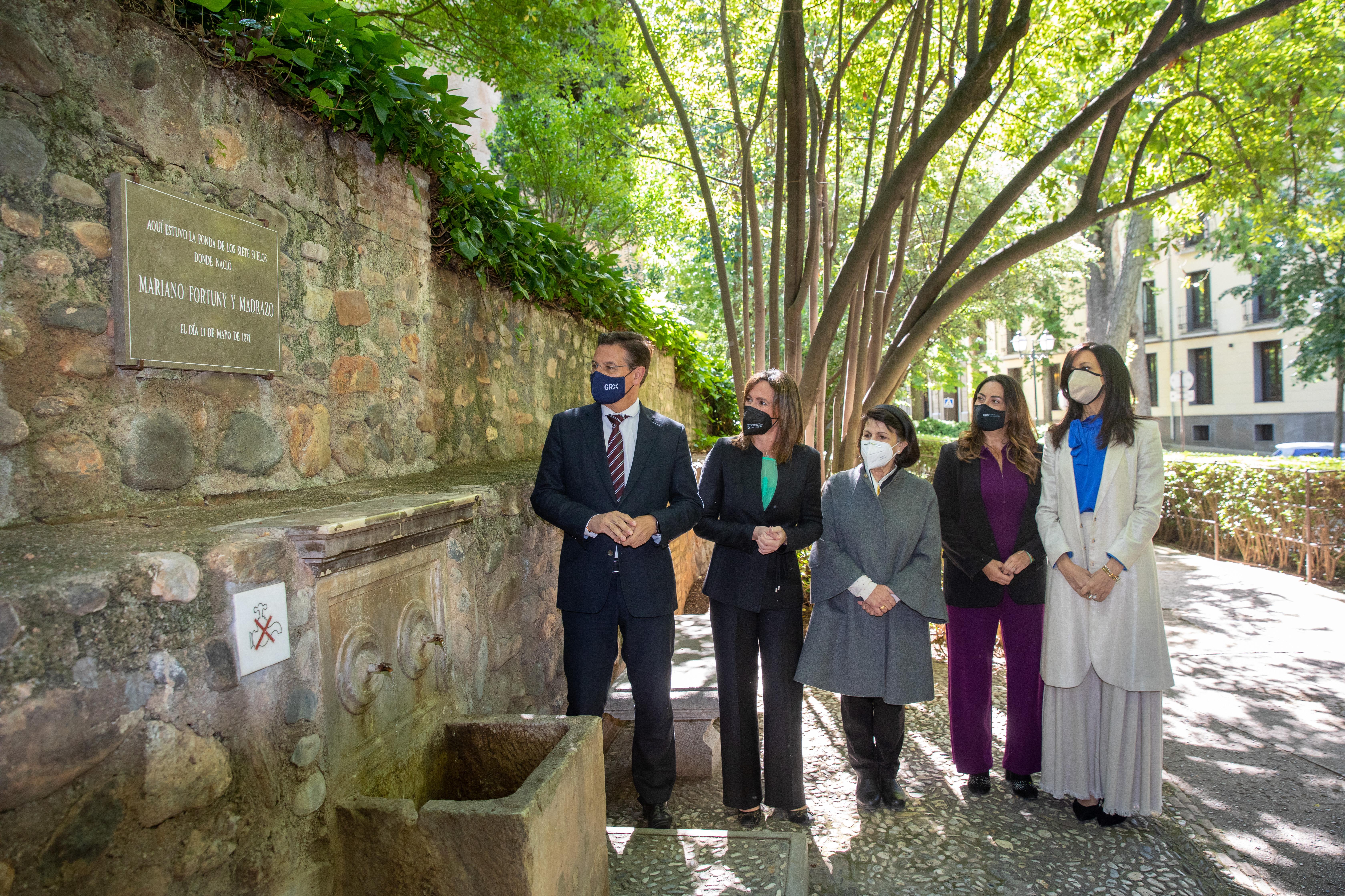 La Alhambra homenajea a Mariano Fortuny y Madrazo con una placa en el lugar donde nació hace 150 años