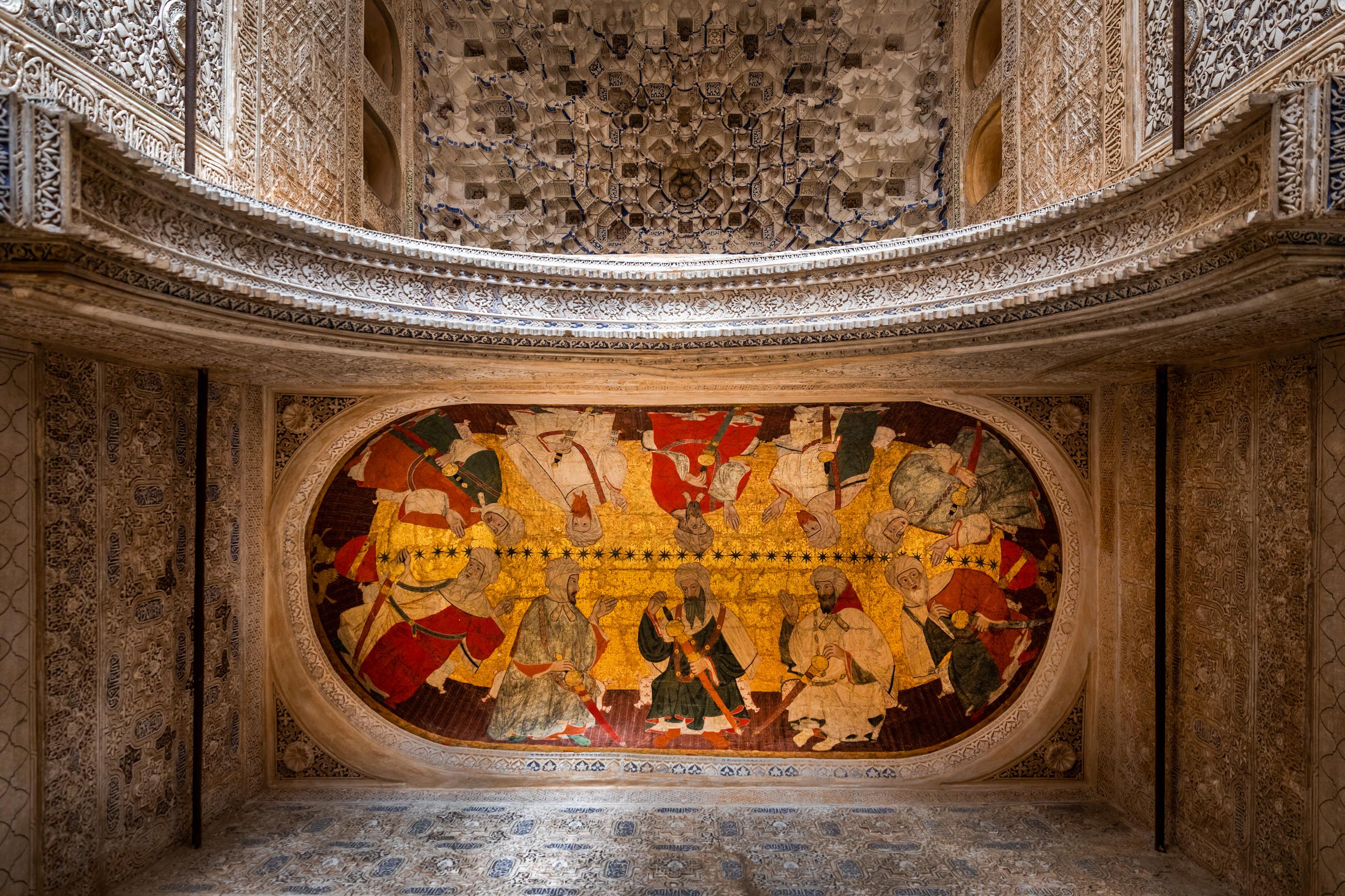 La restauración de las bóvedas con pinturas de la Sala de los Reyes, preseleccionada para los premios europeos ILUCIDARE