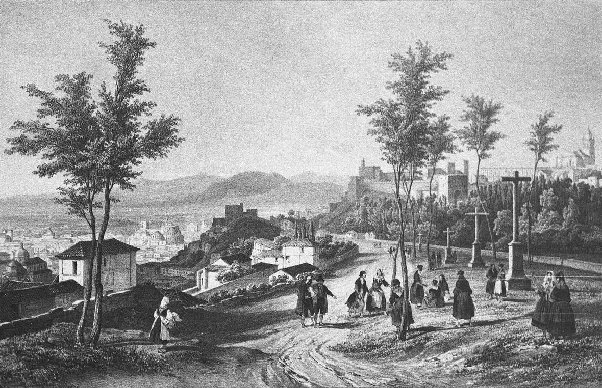 Los paseos de la Alhambra en el siglo XIX