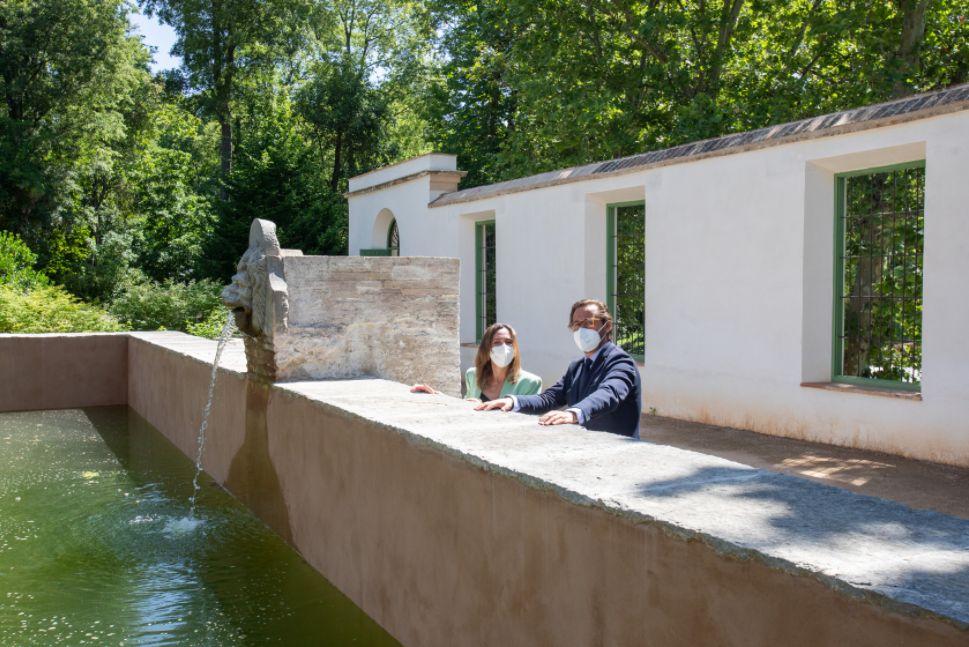 La Alhambra finaliza las obras de restauración del albercón del Carmen de Peñapartida