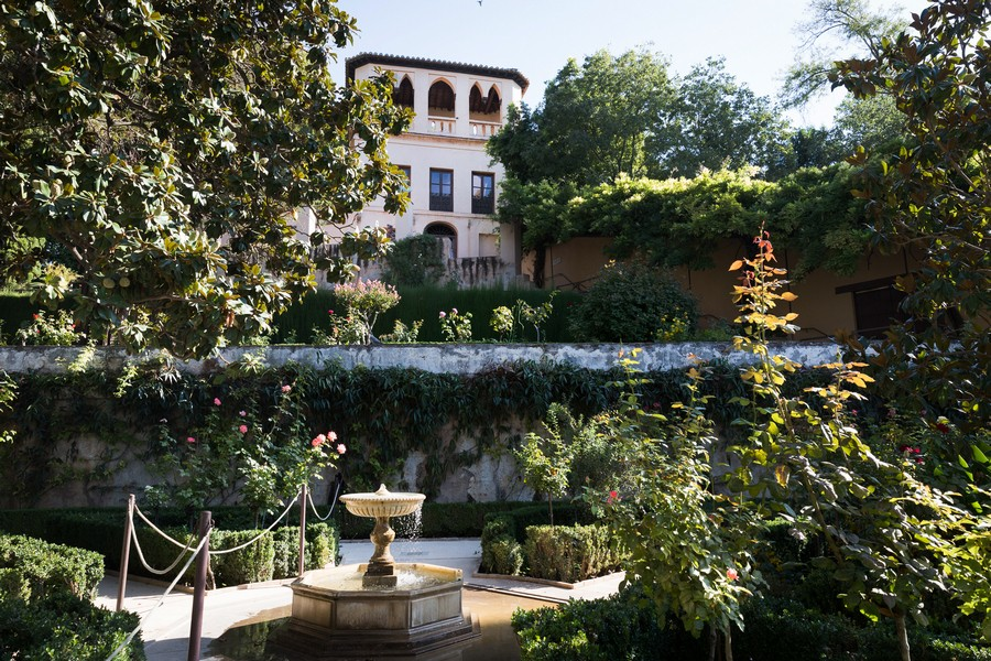 Jardines altos del Generalife